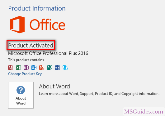 ms word 2016 activation key