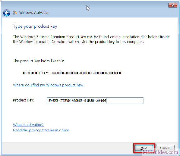 windows 7 bypass activation key