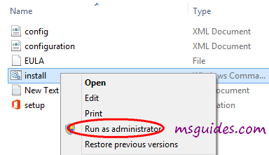 run this setup file as administrator