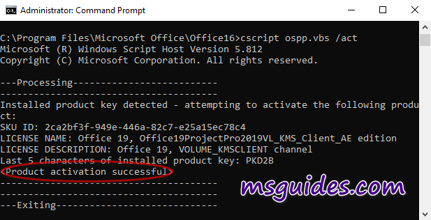activate project visio manually 2 - How to install and use Project / Visio (2016/2019) without product key