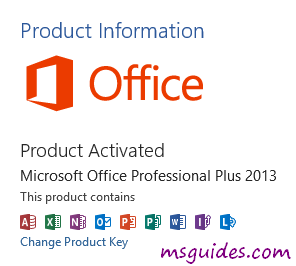 how to check if office 2013 is activated