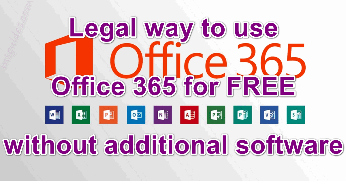 Legal way to use office 365 for free