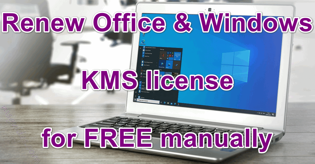 Renew microsoft office windows kms license for free manually
