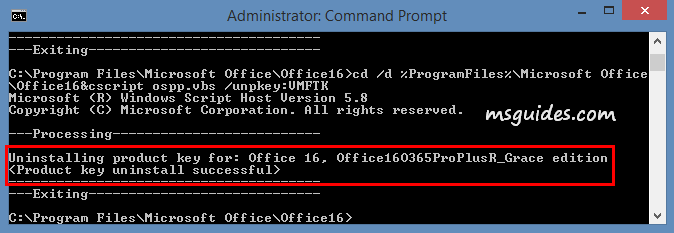 "remove the current license using ""unpkey"" command"