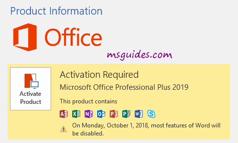 microsoft office word product key 2019