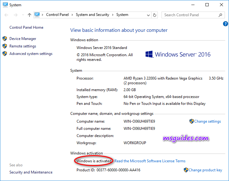 Check out Windows Server activation status