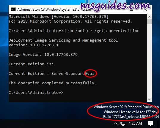 Quickly convert Windows Server Evaluation edition to the