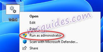 run the batch script as admin