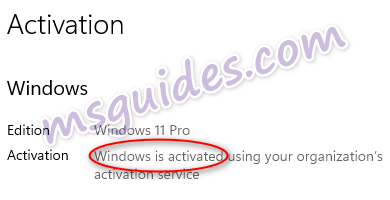 windows 11 is activated successfully